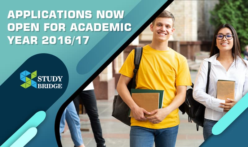 Applications now open for academic year 2016/17
