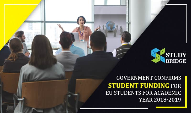 Government confirms student funding for EU students for academic year 2018-2019