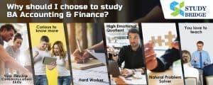 Why should I choose to study BA Accounting & Finance? Study Bridge