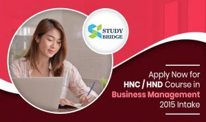 Apply Now for HNC / HND course in Business Management 2015 intake