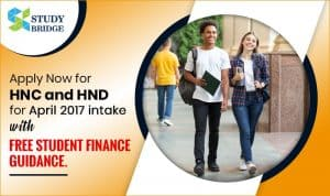 Apply Now for HNC HND for April 2017 intake with free student finance guidance
